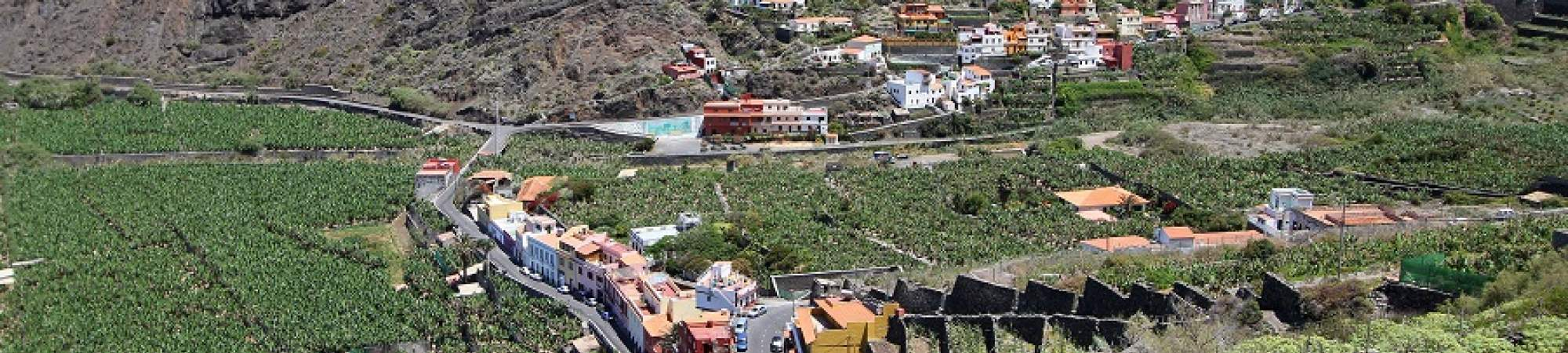 The holiday resort Hermigua on La Gomera