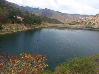 The lake in Vallehermoso, La Gomera