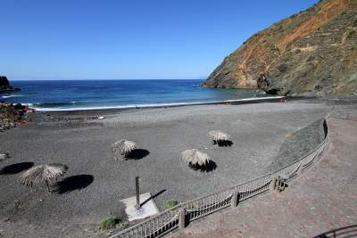 The beach of La Caleta in La Gomera
