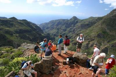 Hiking in the mountains of La Gomera