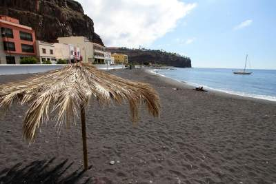 The beach in Palya Santiago La Gomera