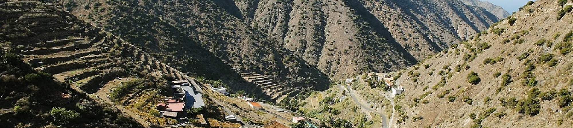The village Alajero on La Gomera