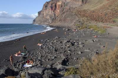 The beach in Valle Gran Rey on La Gomera