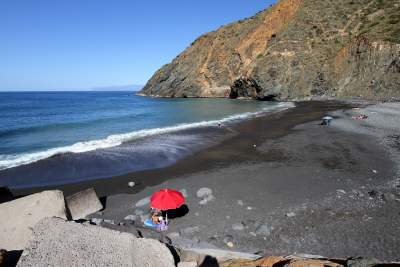 The Beach of Vallehermoso on La Gomera