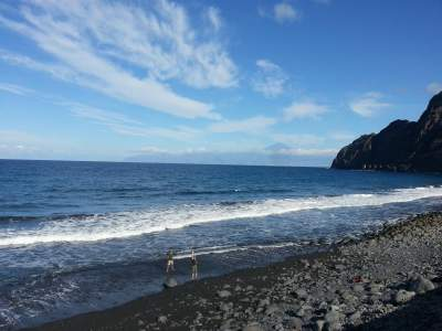 The beach of Hermigua on La Gomera